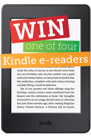 Support and win a Kindle E-Reader!