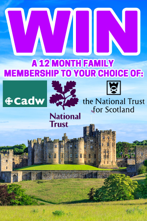 Support and win a 12 month family heritage pass!