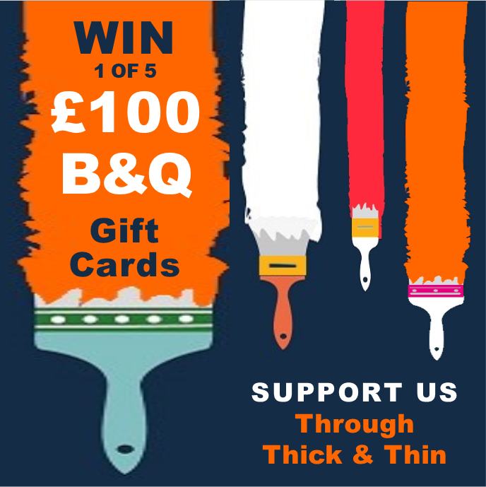 Win 1 of 5 £100 B&Q Gift Cards